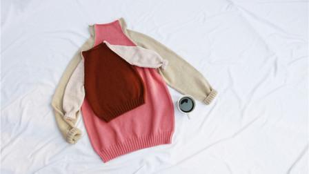 【冰淇淋】全集 清爽好看的烟囱领羊绒衫 乖诺诺编织教程 新手零基础学习棒针编织