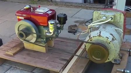 看看咱国产常发柴油机多给力,带动发电机工作根本不在话下!