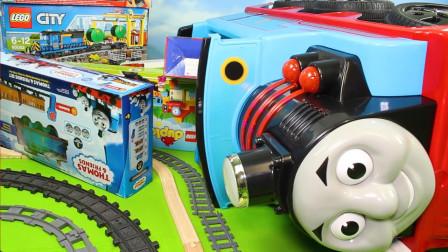 托马斯火车玩具车,拖拉机,卡车和汽车为孩子们训练玩具