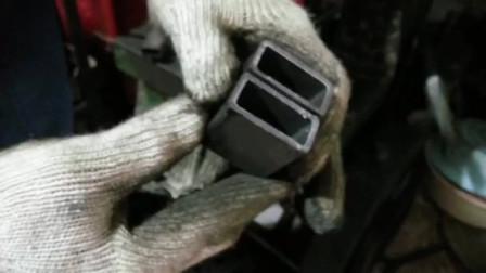 管材冲断模具冲断效果展示冲床的槽钢切断模具