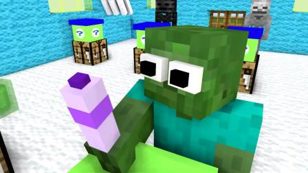 我的世界动画-怪物学院-礼物-SpekMan