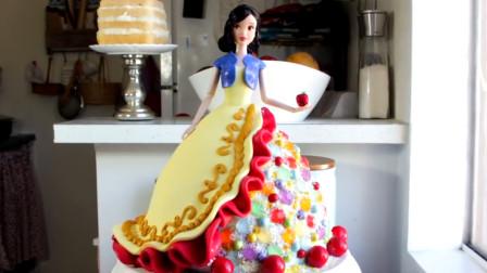 教你纯手工打造超美的白雪公主翻糖蛋糕!简单易学,教程拿去吧