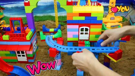 用积木建一个很大的游乐场
