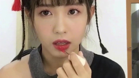 博主推荐:大师教你画寄明月妆,口红一定要画的很性感