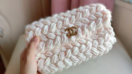 泫雅风小香风牛奶棉手工diy包包斜挎包手提包编织图案