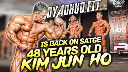 48岁韩国健美老将金俊浩再次登台,挺进肌肉系列赛爱尔兰站前5