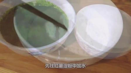 菠菜新吃法, 锅里一烫, 大刀一挥, 锅里凉搅, 一大盘不够吃