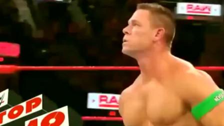 WWE:塞纳学送葬者绝招KO对手,你别说,还真挺像!