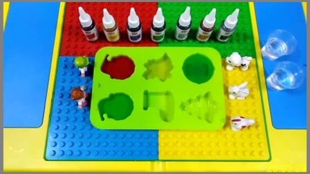 彩色冰块手工DIY:彩色圣诞节蛋糕盘冰块