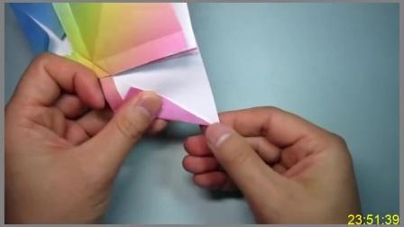 手工折纸教程,玫瑰花蝴蝶结的简单折法,女孩子超喜欢