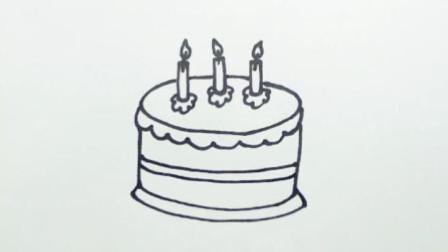 亲子绘画儿童简笔画视频:《生日蛋糕》