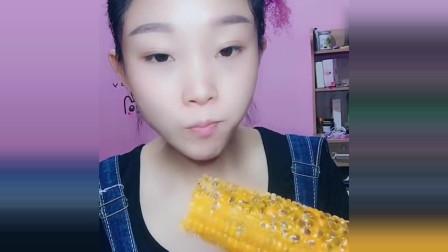 声控吃冰小姐姐:这次吃自制百香果玉米,一口酥是幸福的味道!