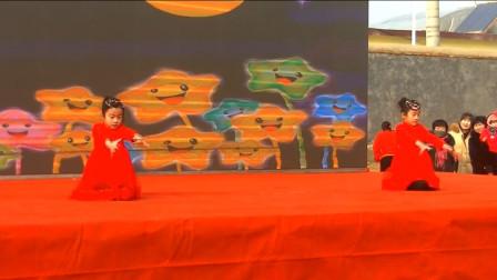 春移官庄社区庆春节文艺汇演双胞胎舞蹈:星星很美丽-晚安喵-小小水蜜桃