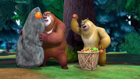 熊出没森林水果乐园 光头强跑酷吃水果