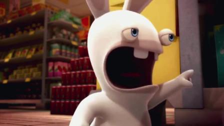 疯狂的兔子动漫:超市管理员急着关门,于是把慢吞吞的老太太推到了门外