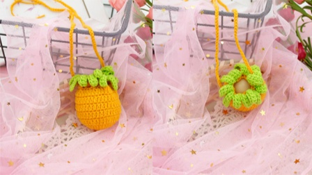 【第64集】木小尤手作 diy手工钩针编织端午节立夏胡萝卜蛋袋-视频教程