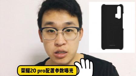荣耀20Pro配置参数曝光,搭载第六代屏下指纹,4月25号左右发布