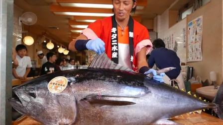 金枪鱼身上最贵一块肉,日本顶级大厨精湛刀工,切开瞬间口水直流
