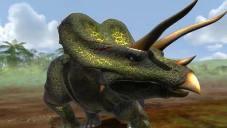 恐龙战争:赖氏龙vs三角龙,身经百战的草食恐龙之战