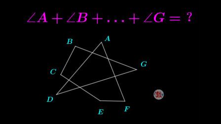 初中几何,A到G角度之和,用外角来做骚的一批
