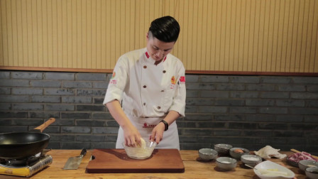 厨师3分钟教做茴香油条,和面环节讲解详细,全家人都爱吃的早餐