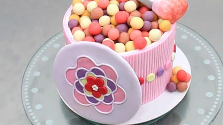 可以吃的化妆刷!送给你的女孩吧,是个超漂亮的创意蛋糕哦