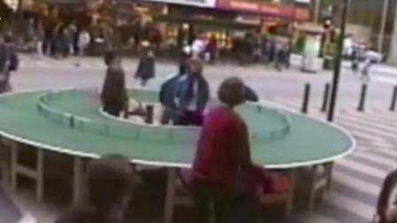 世界上最奇葩的乒乓球桌,360度都能开打,刘国梁都表示做不到