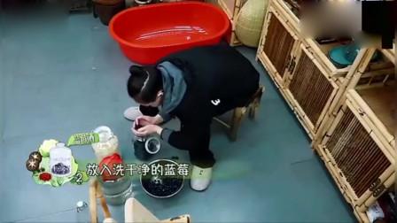向往的生活:何炅宋丹丹自制咖啡加美酒,跟宋丹丹老师学如何泡蓝莓酒