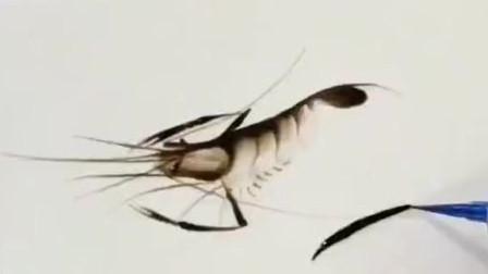 高手用果酱画的一只虾, 这一幕让我开眼了, 画成这样, 真有才!