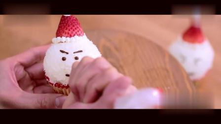 还在苦恼圣诞节给小宝宝做啥美食?试试美味高颜值的雪人杯子蛋糕