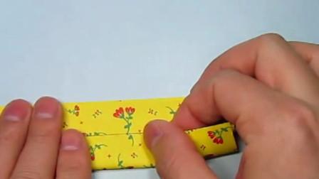 简单的糖果收纳盒折纸,只需要3分钟,儿童手工DIY折纸