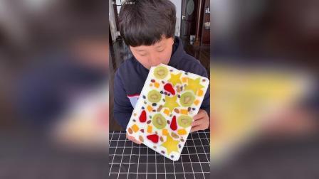 水果酸奶块做法