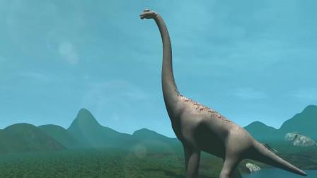 恐龙战争:雷龙vs棘龙,棘龙的捕猎场面