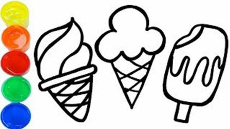 亲子早教创意绘画美味可口的冰淇淋冰棒,小朋友学习认识颜色啦