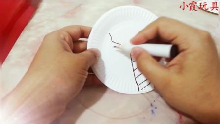 【小霞玩具】教你如何使用蛋糕塑料叉盘,画圣诞树