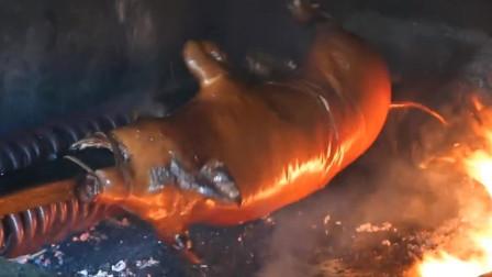 吃货攻略:烤全猪制作过程,让你大开眼界6