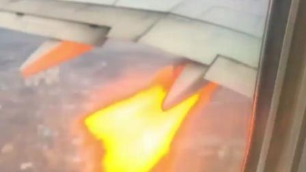 大韩航空波音737引擎冒火紧急返航 起飞后遭鸟击