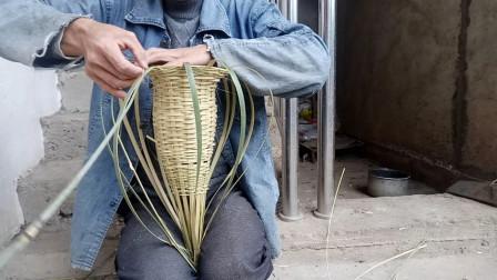 农村大叔教你手工制作鱼笼,制作过程简单详细,很实用,你见过吗