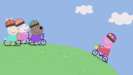 小猪佩奇自行车比赛,看谁先到终点!游戏