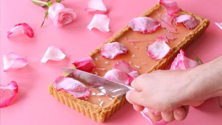 玫瑰香草蛋挞 这款玫瑰香草蛋挞是春游的完美甜点。