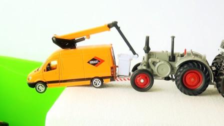 挖掘机和铲车玩具汽车模型
