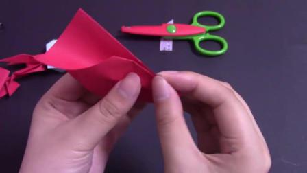 教你用纸折一架飞机客机,锻炼小朋友的动手能力,手工折纸教程-