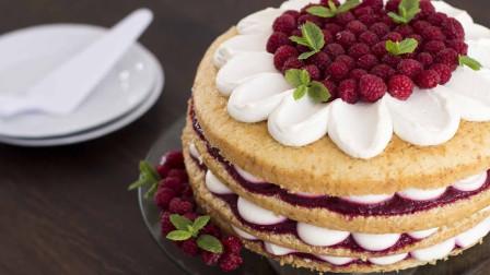 这是我见过最眼馋的蛋糕,浓浓的覆盆子汁往下倒,口水流一地!