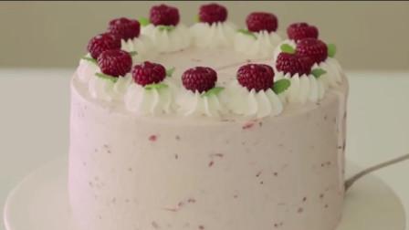 有颜又有味的树莓蛋糕,制作过程超简单,妈妈说吃了可以活血哦