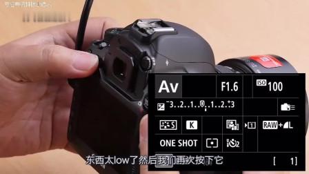 佳能5D4基本操作使用:人工智能对焦多重曝光、HDR模式、电池信息