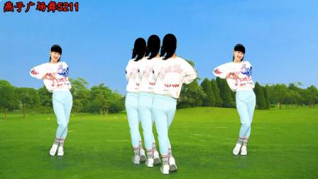 燕子广场舞5211《伤过的心DJ》64步正背面演示 学跳更简单 看几遍就能学会