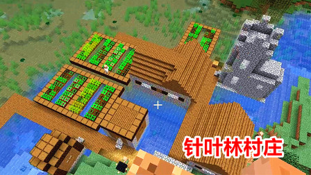 我的世界海洋版30:在沼泽地的边缘,玩家找到针叶林村庄!