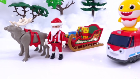 今天是圣诞节,圣诞老爷爷骑着他的麋鹿马车给大家送礼物去了