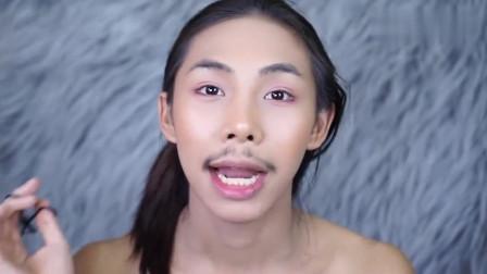 泰国小哥素颜不咋样,妆后变气质女神,比女人还美
