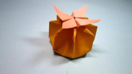 手工折纸,南瓜的折法,简单易学好有创意